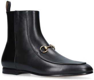 Gucci Leather Jordaan Ankle Boots