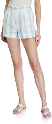 Frame Striped Linen Shorts
