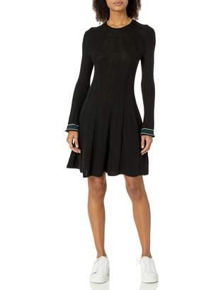 Emporio Armani Women's Wool Cashmere Blend Mock Neck Sweater Dress