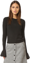 Alice + Olivia Anila Ruffle Sleeve Sweater