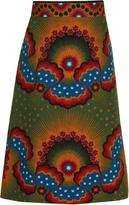 Valentino Enchanted Wonderland A-line midi skirt