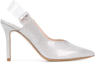 Pinko Metallic Sling-Back Pumps