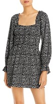 Thumbnail for your product : Lucy Paris Gathered Floral Print Dress