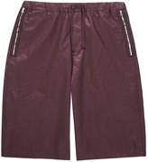 Stone Island X Shadow Project Burgundy Wide-leg Shell Shorts
