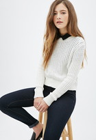 Forever 21 Crisp Cable Knit Sweater