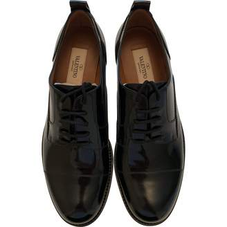 Valentino \N Black Patent leather Lace ups