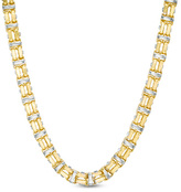 Zales Men's Double Row Link Chain Necklace in 14K Two-Tone Gold - 24""