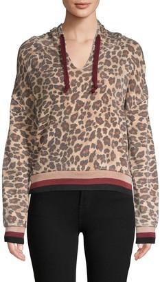 Vintage Havana Leopard-Print Cotton-Blend Hoodie