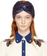 Gucci Blue & Red Lurex Supremette Turban