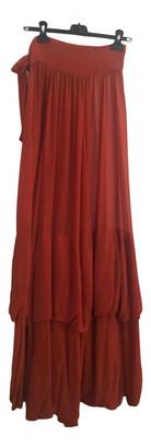 Saint Laurent Orange Silk Dresses