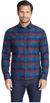 UNTUCKit Wrinkle-Free Flannel Alezio Shirt (Dark Red) Men's Clothing