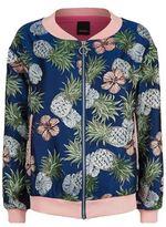 Pinko Pineapple Jacquard Lurex Bomber Jacket