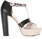 MICHAEL Michael Kors snakeskin detail sandals - women - Leather/rubber - 6