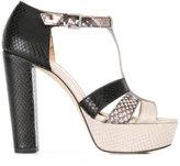 MICHAEL Michael Kors snakeskin detail sandals
