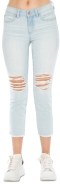 Thumbnail for your product : Rewash Juniors' Distressed Cropped Skinny Jeans