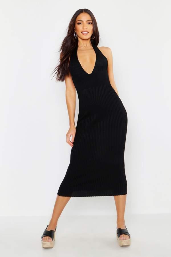 de8db432fa97 Plunging Halter Dress - ShopStyle