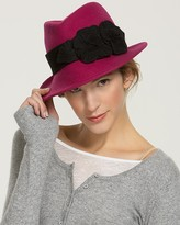 Trilby with Pleated Flowers