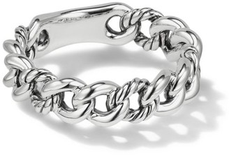 David Yurman Belmont Curb Link Narrow Sterling Silver Ring