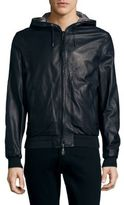 Brioni Reversible Leather Hooded Jacket