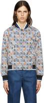 Emilio Pucci White Printer Bomber Jacket