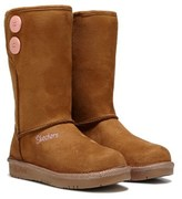 Skechers Kids' Glamslam Button Beauties Boot Pre/Grade School