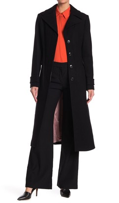 Kate Spade Twill Wool Blend Belted Coat
