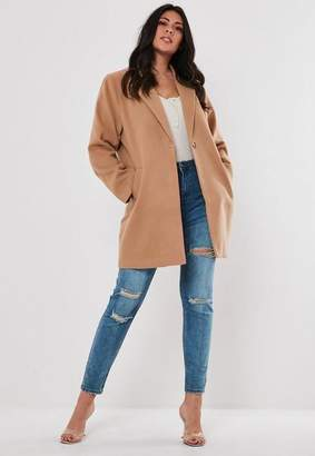 Missguided Plus Size Camel Formal Coat