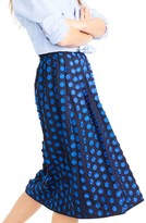 J.Crew Women's Fringe Dot Midi Skirt