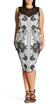 City Chic Plus Size Women's Baroque Sheath Dress