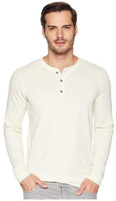 The North Face Long Sleeve TNF Terry Henley (Vintage White Heather) Men's Long Sleeve Pullover