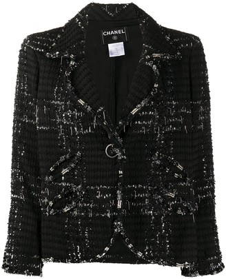 Chanel Pre Owned 2008 Single-Breasted Tweed Blazer