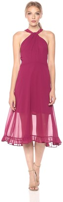BCBGeneration Women's Midi Chiffon Dress