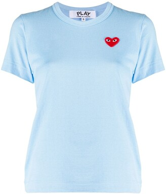 Comme des Garcons heart logo embroidered T-shirt