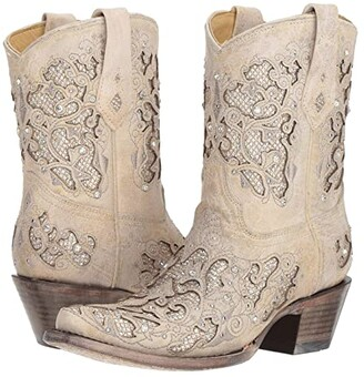 Corral Boots A3550 (White Glitter) Women's Boots
