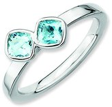 Stackable Expressions Size 9 - Topaz Double Cushion-Cut Sterling Silver Stackable Ring