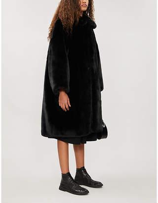 Comme des Garcons Comme Fully-lined faux-fur coat