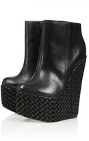 Topshop **Dusk Shadow Wedge Boots by CJG