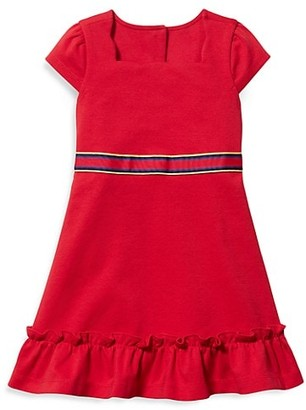 Janie and Jack Baby's, Little Girl's & Girl's Ponte A-Line Flounce Dress