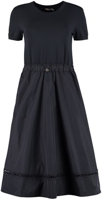 Moncler Flared Skirt Knit Dress
