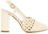 Charlotte Olympia Willa leather slingback heels