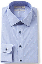 Murano Slim-Fit Spread Collar Skull Printed Dress Shirt