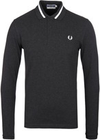 Fred Perry Re-issues Charcoal Long Sleeve Pique Polo Shirt