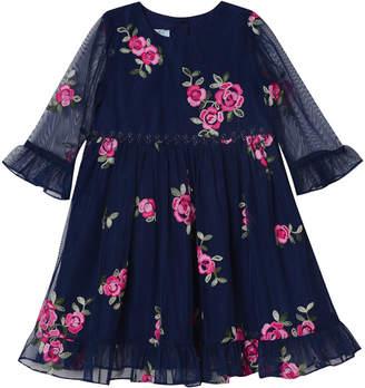 Pastourelle Embroidered Rose Dress