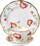 "Royal Albert 100 Years 1970 Teacup, Saucer & Plate Set - Poppy - 8"" - 3 pc"