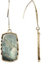 Natasha Accessories Rectangle Stone Drop Earrings