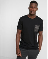 Express camo pocket crew neck tee