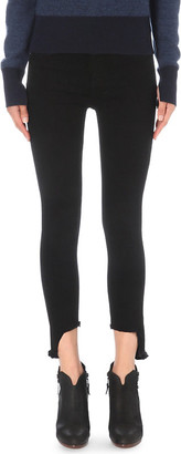 Rag & Bone 10 Inch Capri skinny stepped-hem high-rise jeans