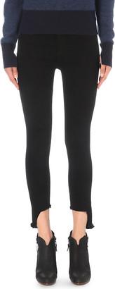 Rag & Bone Women's Black Hampton 10 Inch Capri Skinny Stepped-Hem High-Rise Jeans, Size: 24