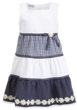 Blueberi Boulevard Toddler Girls Gingham Daisy Dress
