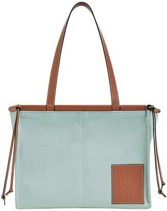 Loewe small cushion tote bag aqua